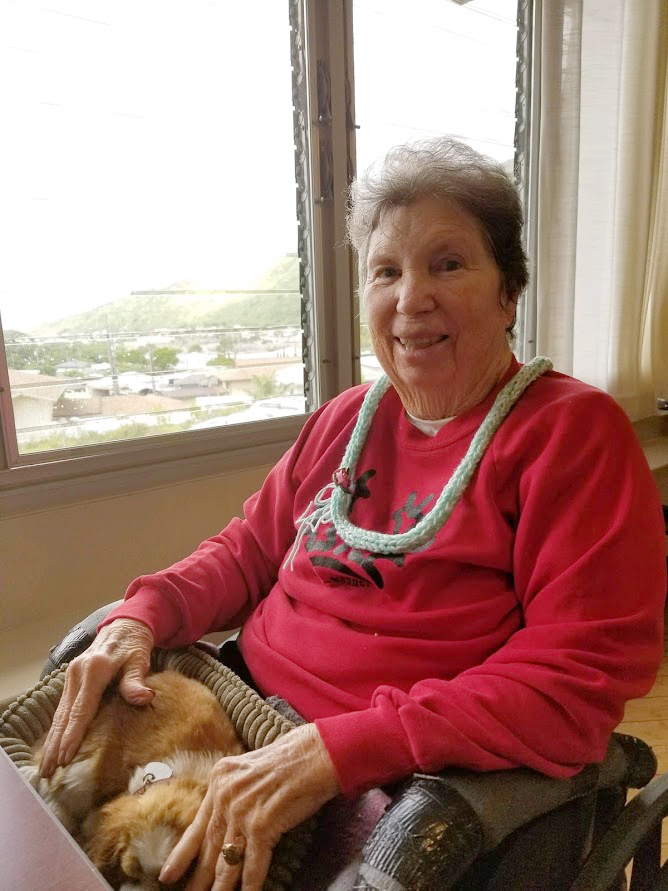 Diana's mother, Full Life Care Plan client Martha M. enjoying the view